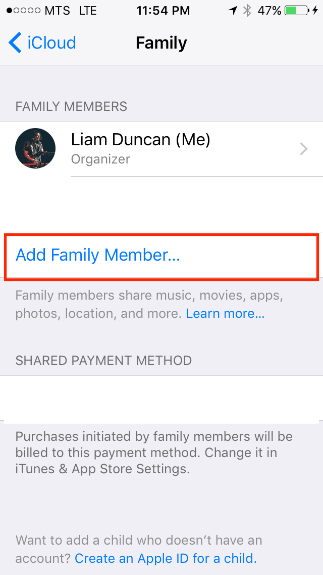 img  add a family member - Family Sharing: A Complete Guide