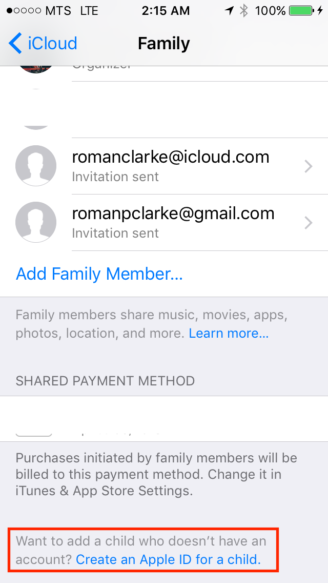 img  create apple id child ios - Family Sharing: A Complete Guide