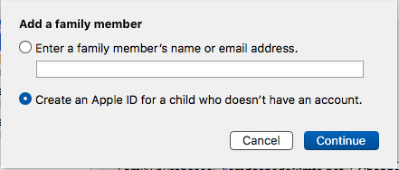 img  create child id mac - Family Sharing: A Complete Guide
