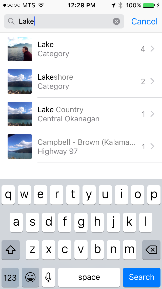 img  lake pics - How To Search For Photos in iOS 10
