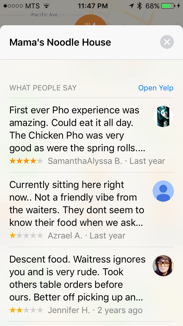 img  yelp reviews - Using Third Party Extensions in Maps - How and Why