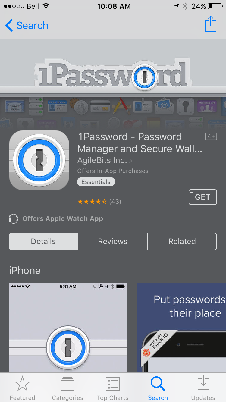 img  1password - Extra Security: 10 Apps That Improve Your iPhone or iPad's Privacy