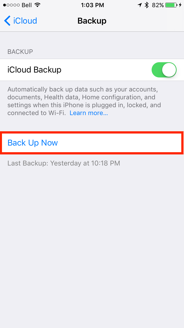 img  back up now  - The Best Way to Transfer your Data from an Old iPhone to a New iPhone