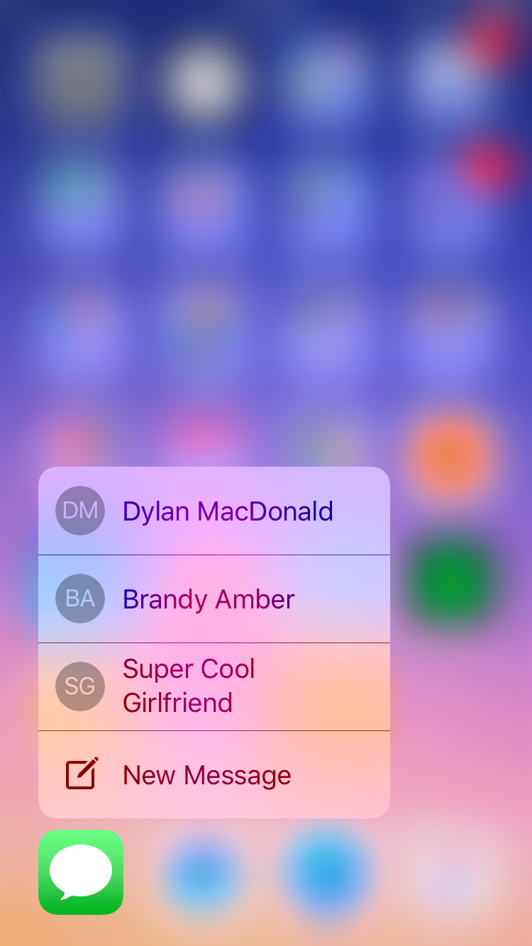 img  messages  - How To Use 3D Touch