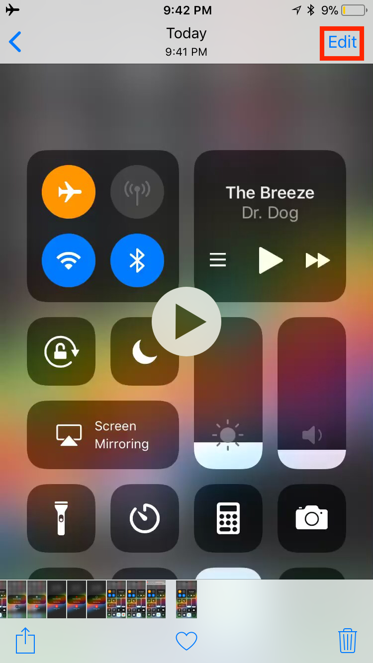 img edit video - How to Use Screenshots and Screen Recording in iOS 11