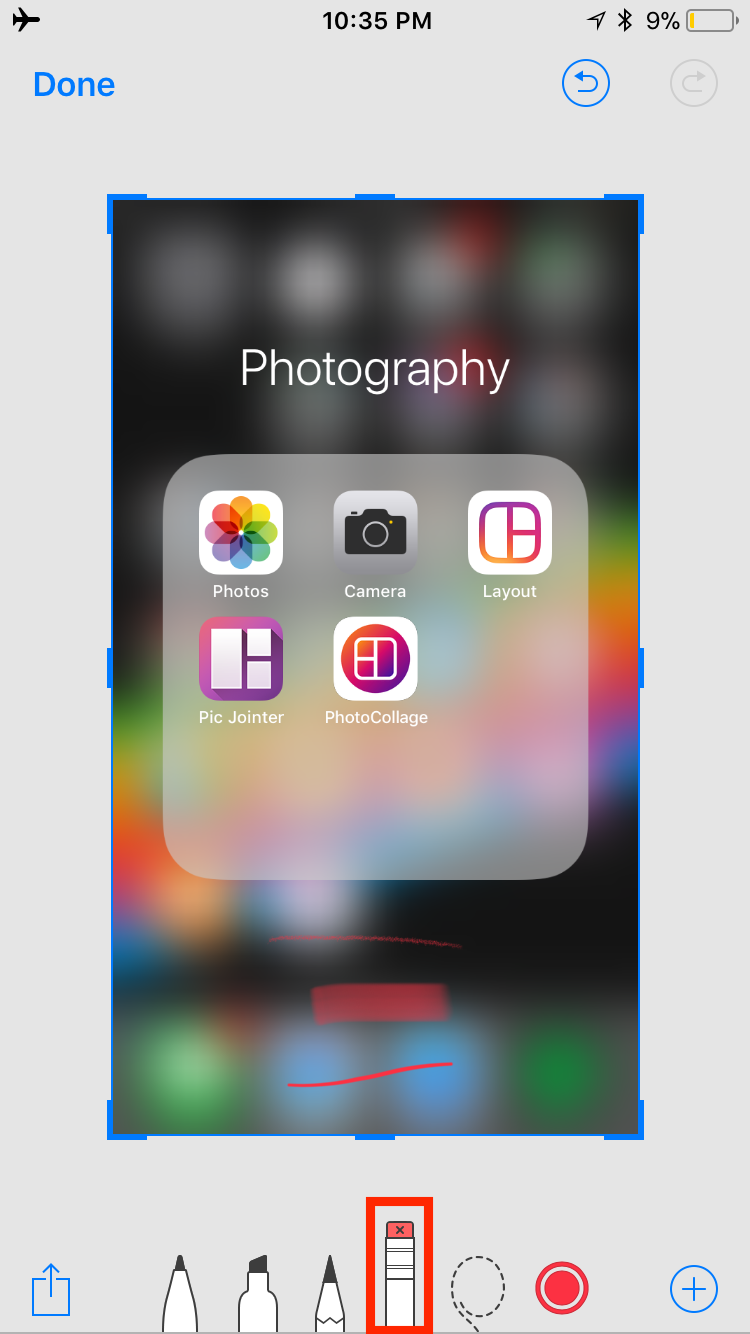 img eraser - How to Use Screenshots and Screen Recording in iOS 11
