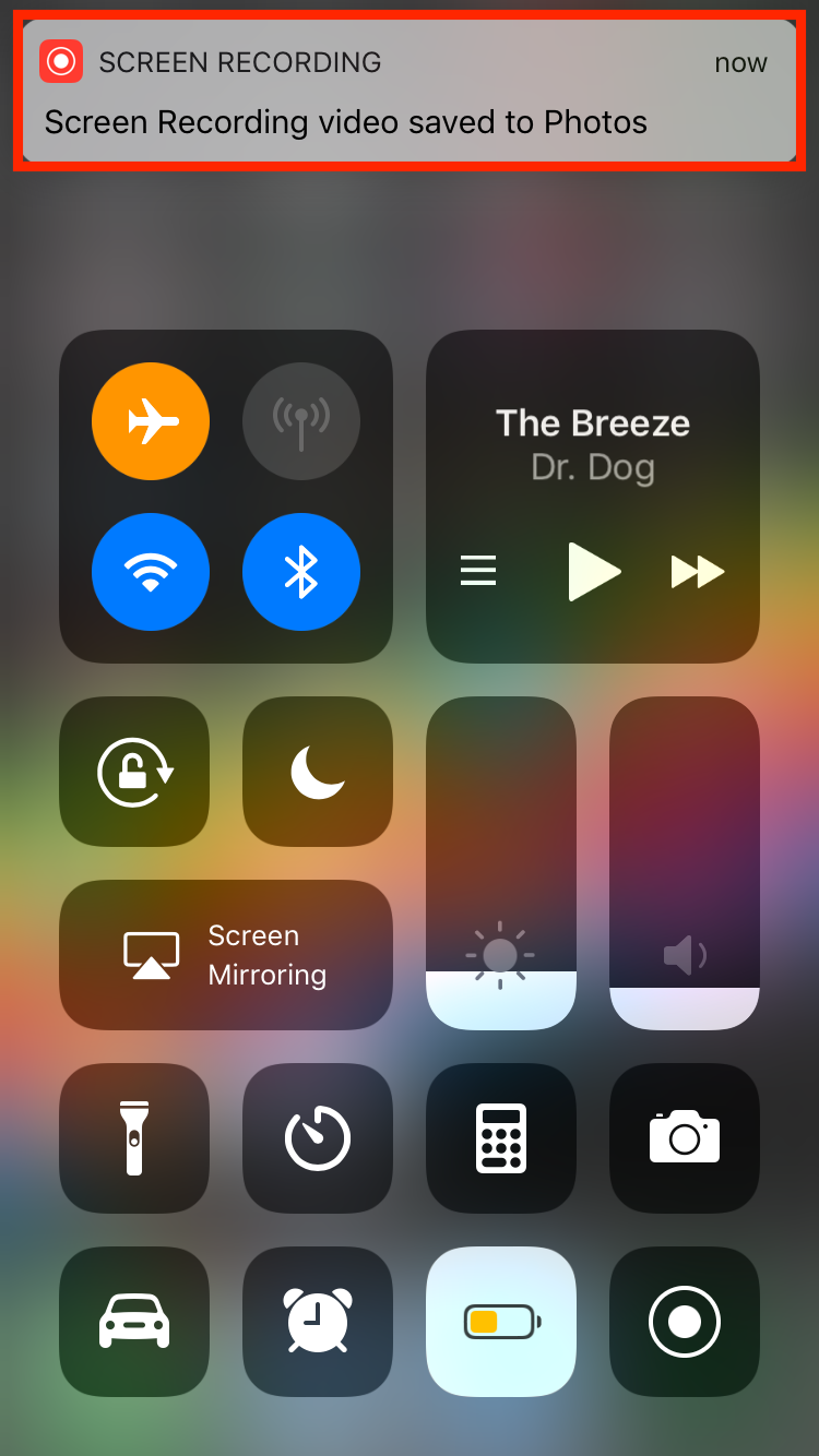 img  saved to photos  - How to Use Screenshots and Screen Recording in iOS 11