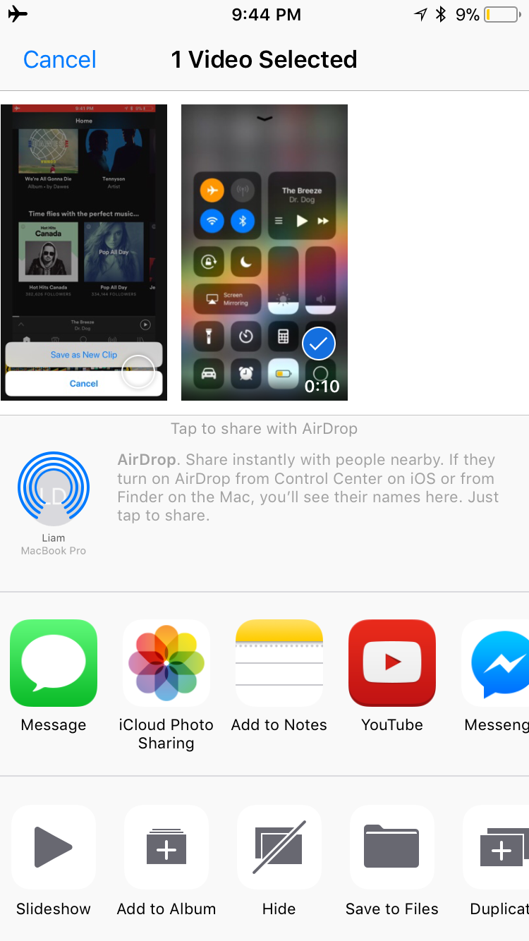 img  share recording  - How to Use Screenshots and Screen Recording in iOS 11