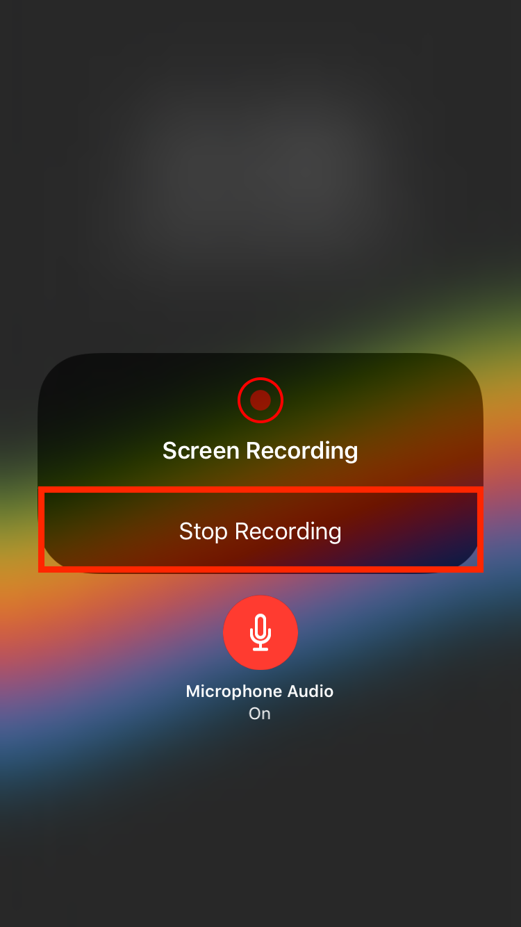 img  stop recording   - How to Use Screenshots and Screen Recording in iOS 11