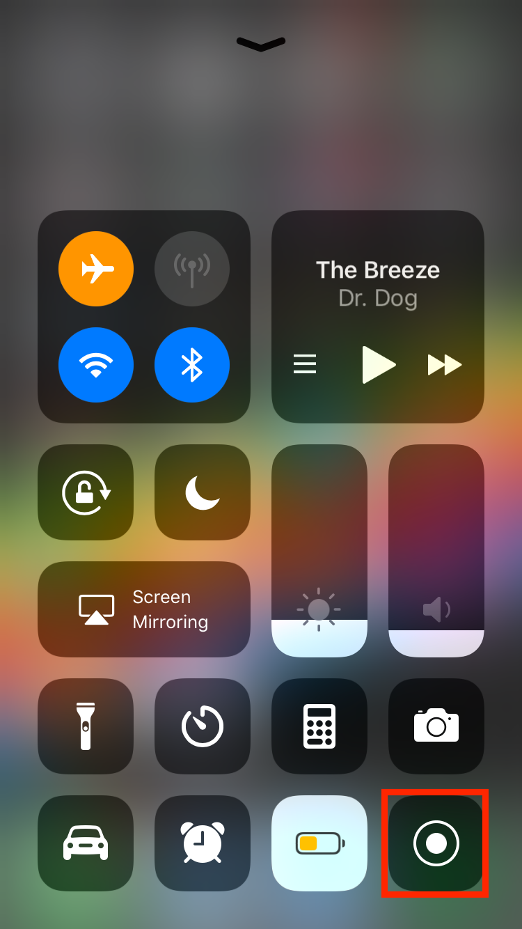 img  swipe up  - How to Use Screenshots and Screen Recording in iOS 11