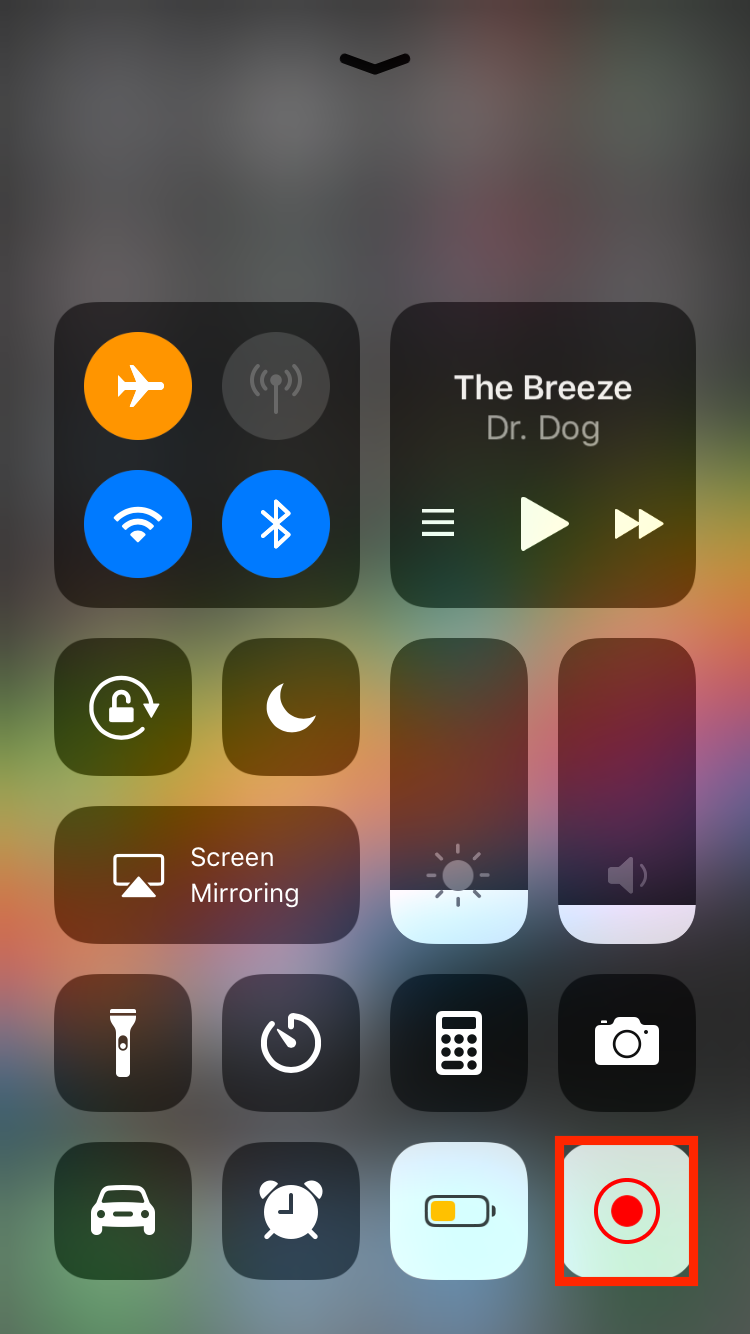 img  tap to record  - How to Use Screenshots and Screen Recording in iOS 11