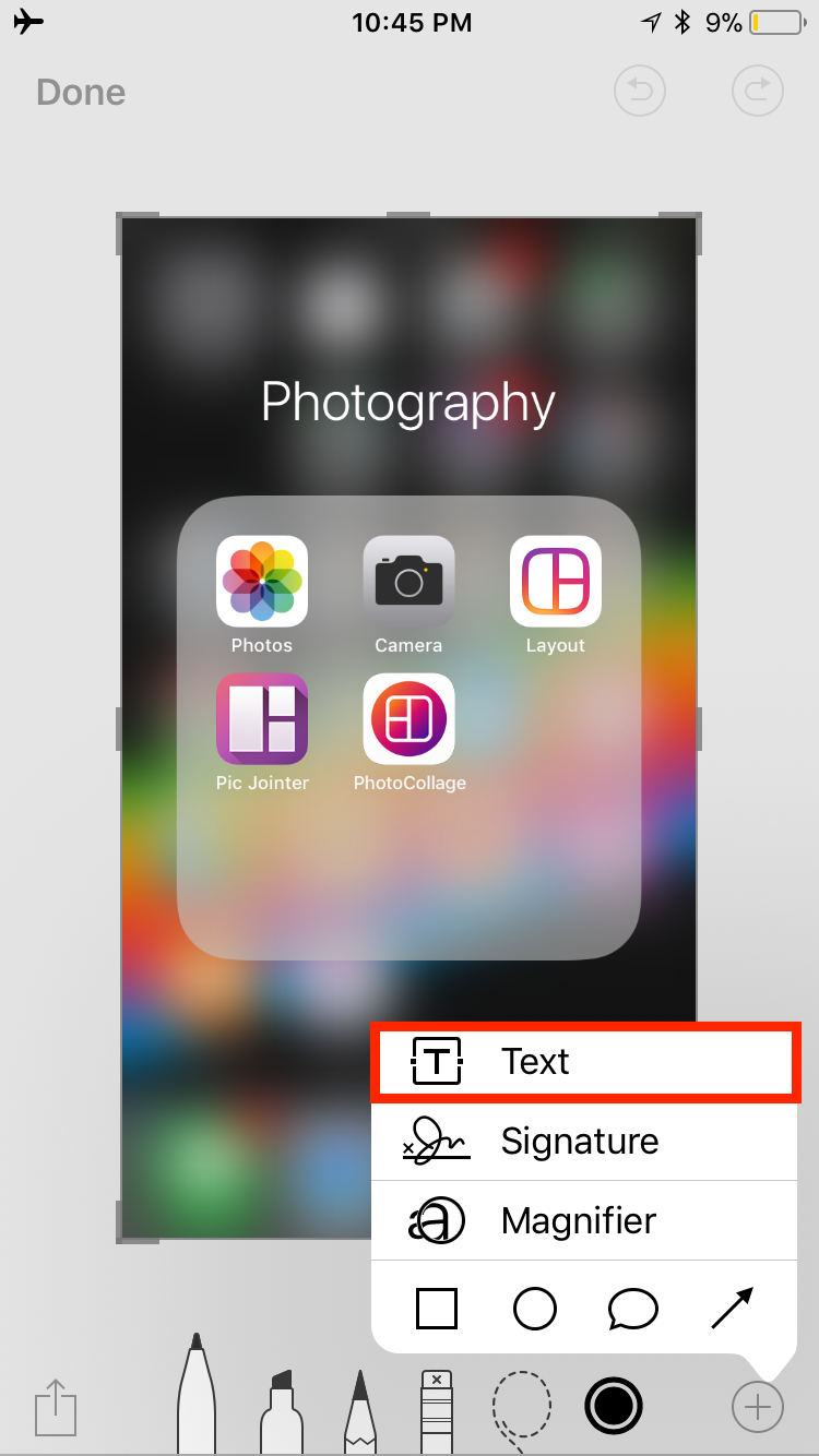 img  text box  - How to Use Screenshots and Screen Recording in iOS 11