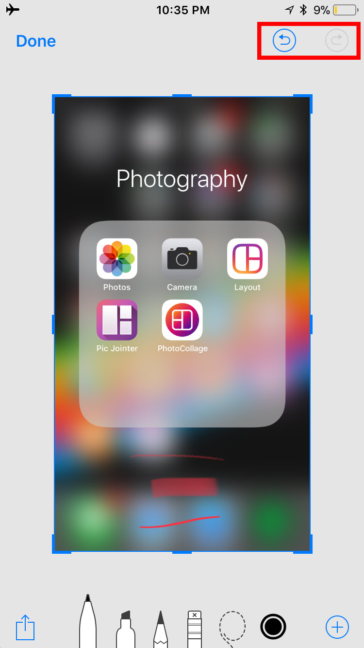 img undo redo - How to Use Screenshots and Screen Recording in iOS 11