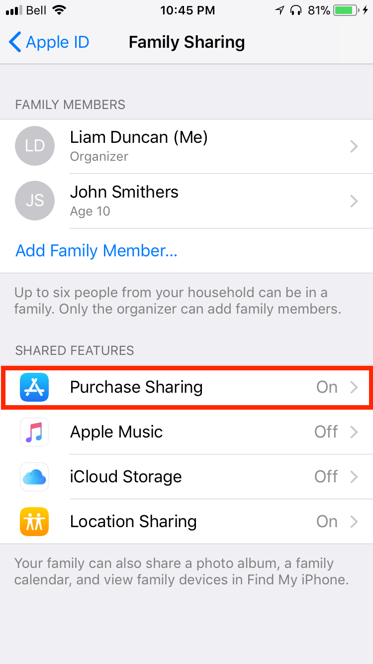 img purchase sharing - Everything You Need to Know About iCloud